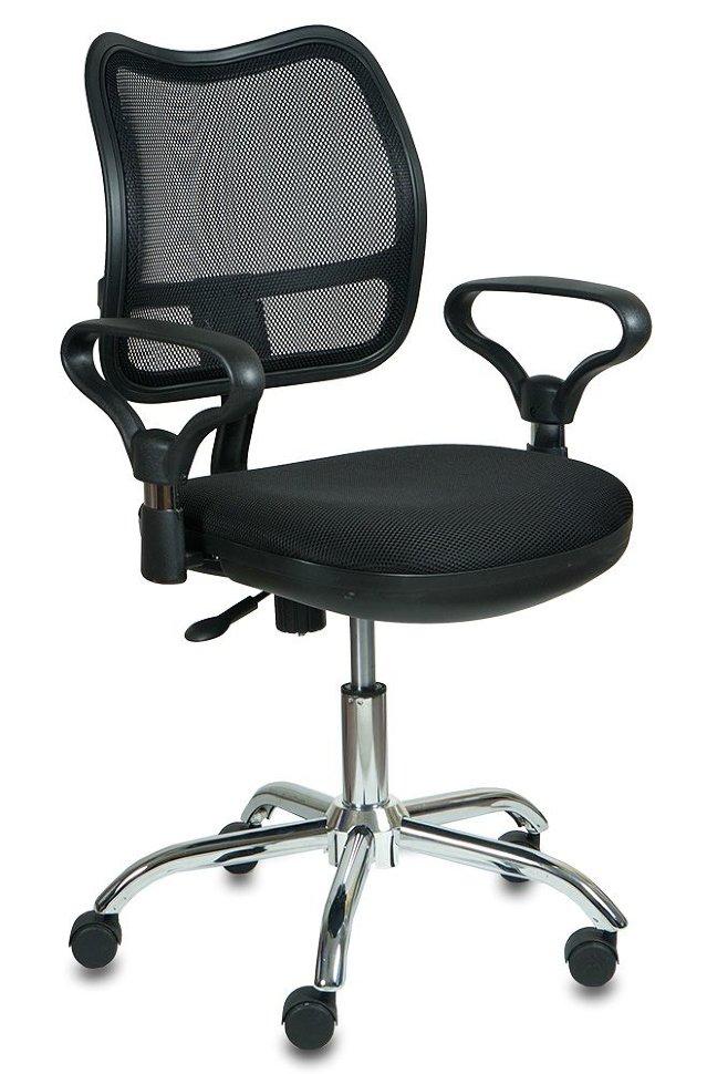 Кресло офисное COLLEGE HLC-0420-1C-1 серый ткань сетчатый акрил 120 кг крестовина и подлокотники черный пластик. (ШxГxВ) см 65x63x94-104